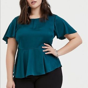 Torrid Satin Jewel Tone Top NWT